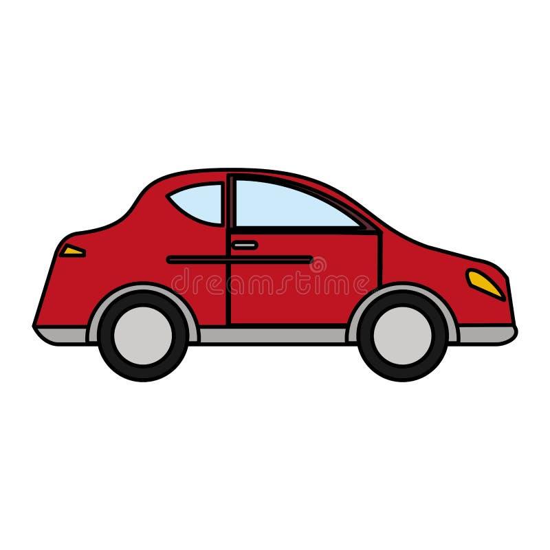 röd transport för bilsedanmedel stock illustrationer