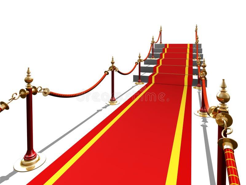 röd trappa för matta till stock illustrationer