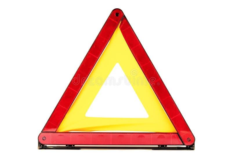 röd triangel royaltyfri foto