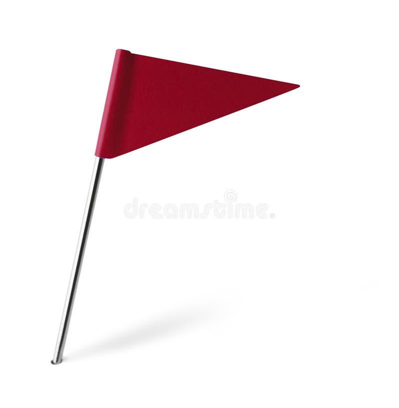 Röd triangelflagga stock illustrationer