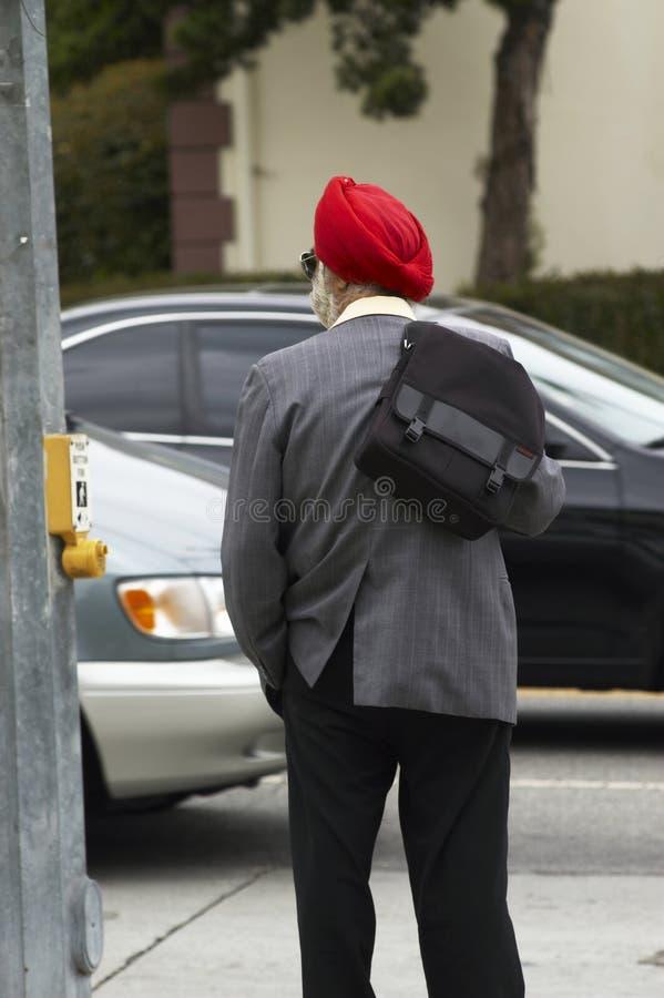 röd turban royaltyfri fotografi