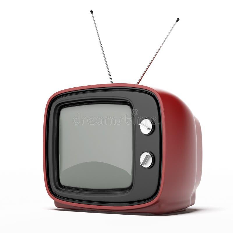 Röd tv för tappning royaltyfria foton
