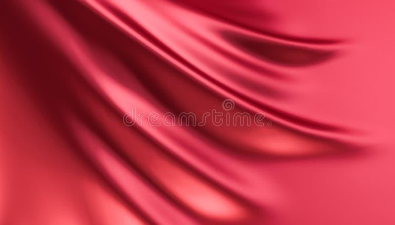 Röd tygförhänge stock illustrationer