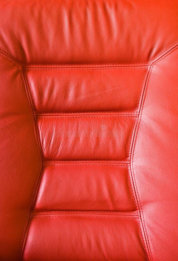 röd upholstery royaltyfria bilder