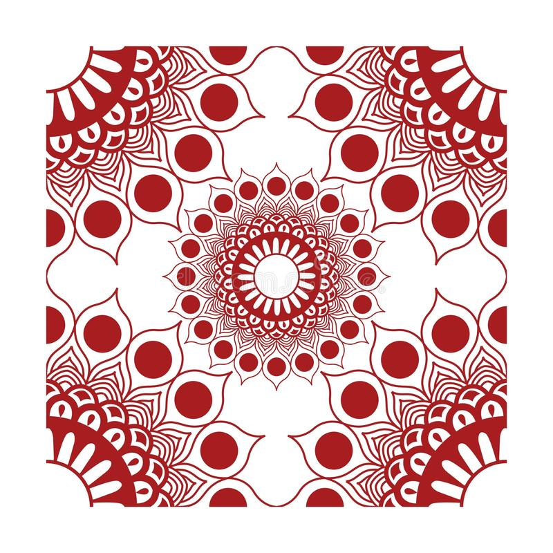 Röd vektor för beståndsdelhörngarneringar royaltyfri illustrationer