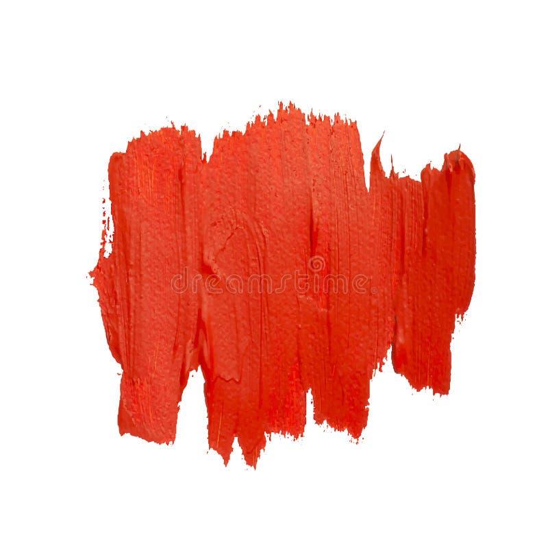 Röd vektorfläck av borsteslaglängder royaltyfri illustrationer