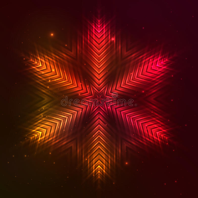 Röd vektorstjärna för brand royaltyfri illustrationer
