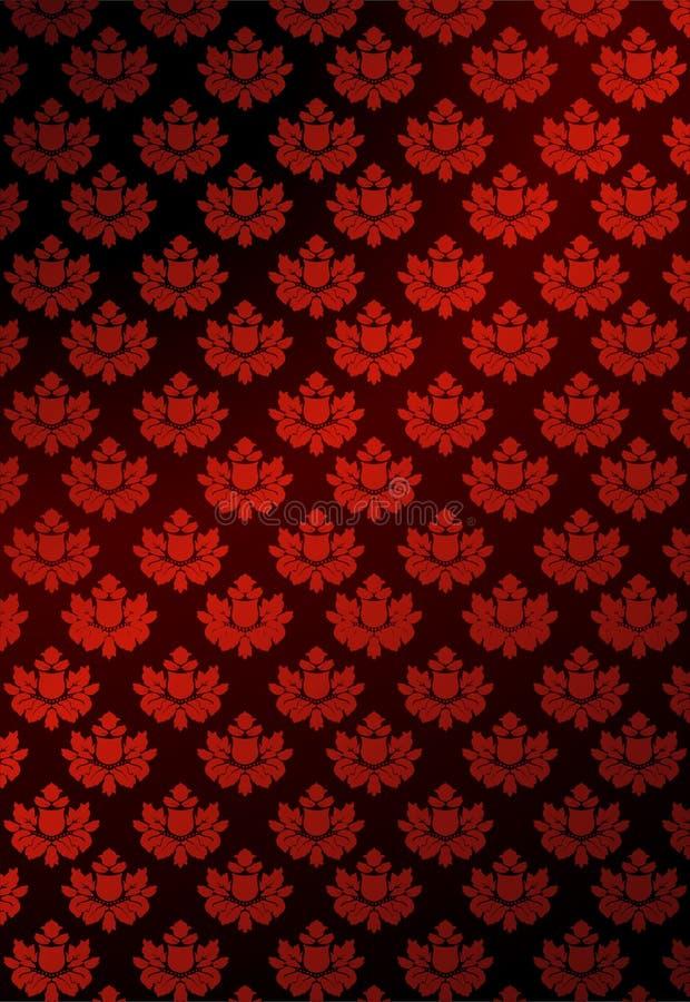 röd vektorwallpaper för illustration royaltyfri illustrationer