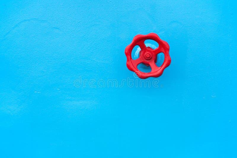 röd ventil fotografering för bildbyråer
