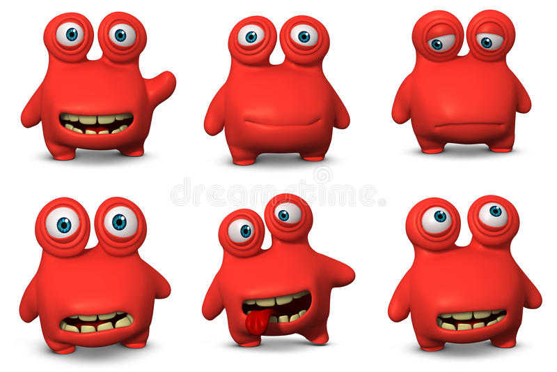 Röd virus vektor illustrationer