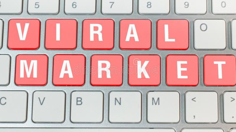 Röd virus- marknadsföring på tangentbordaffärsidé royaltyfria foton