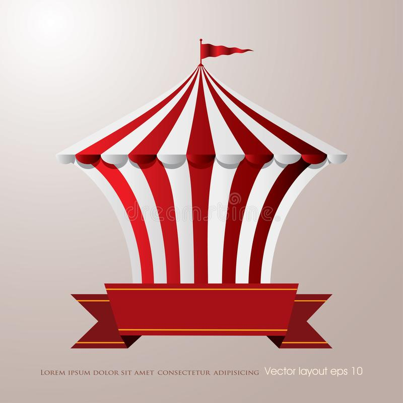 Röd vit cirkus royaltyfri illustrationer