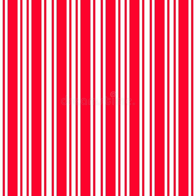 Röd vit modell för vertikala band, sömlös texturbakgrund vektor illustrationer