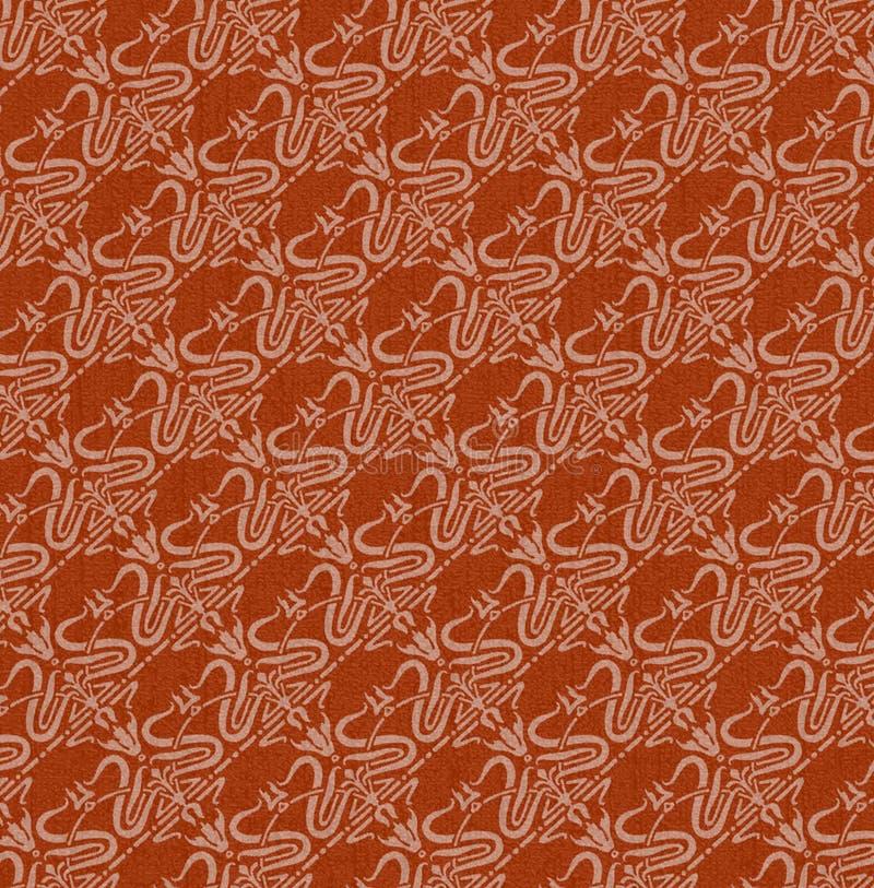 röd wallpaper royaltyfri illustrationer