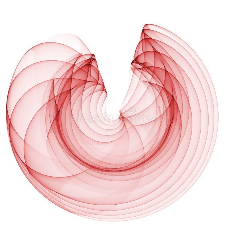 röd wave stock illustrationer