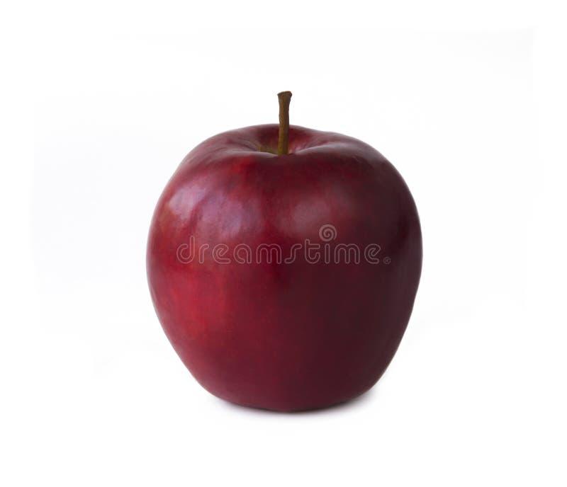 röd white för äpplebakgrund fotografering för bildbyråer