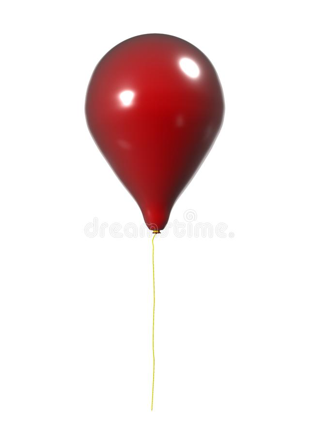 röd white för bakgrundsballong illustration 3d vektor illustrationer