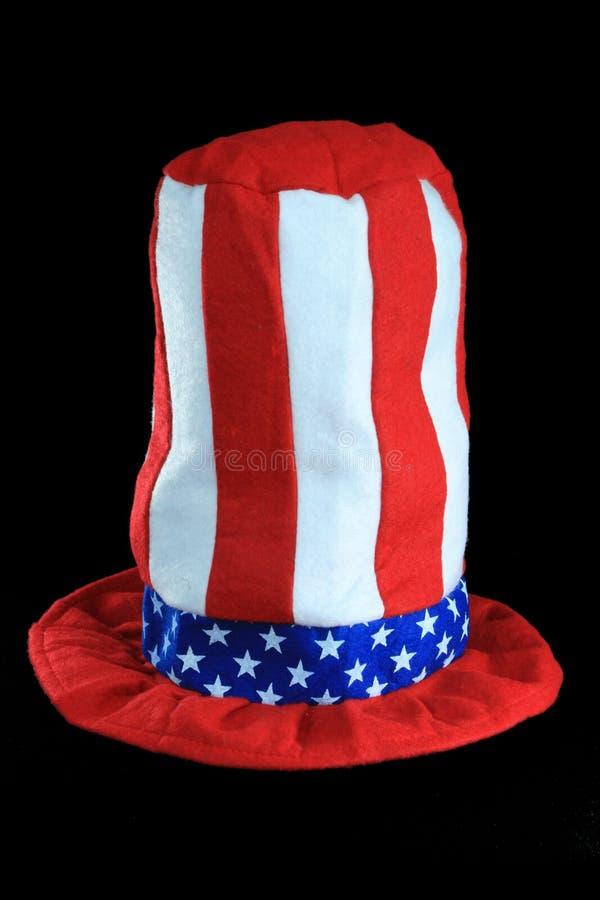 röd white för blå hatt fotografering för bildbyråer
