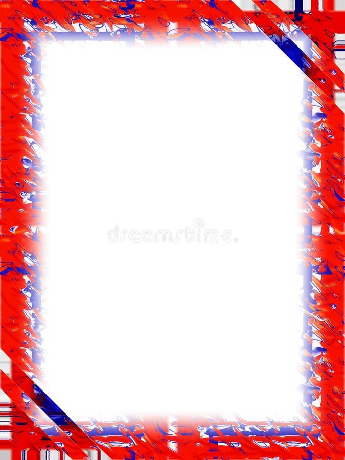 röd white för blå kant stock illustrationer