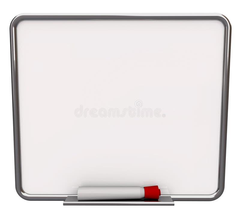 röd white för blank torr raderingsmarkör för bräde stock illustrationer