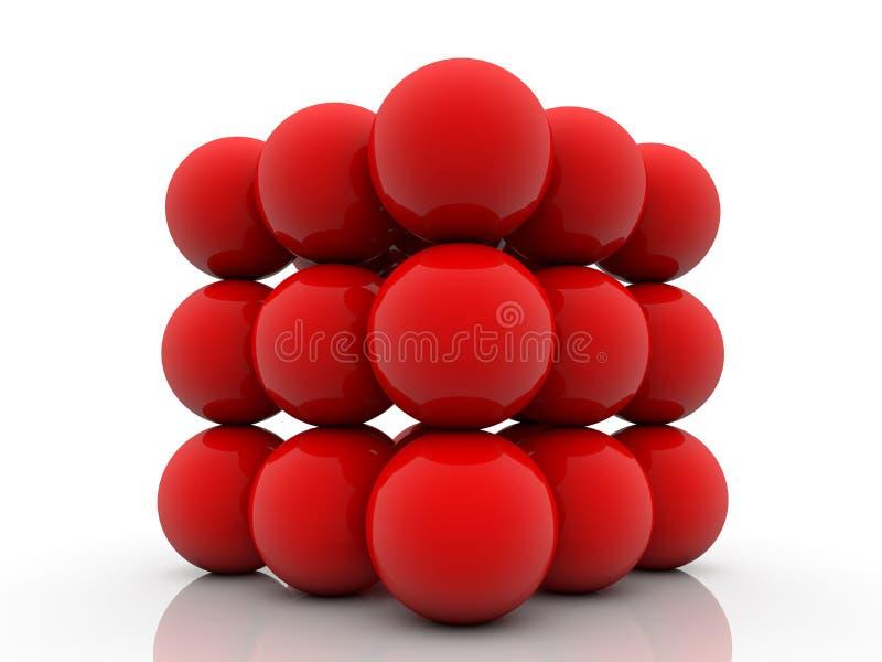 röd white för bollar stock illustrationer