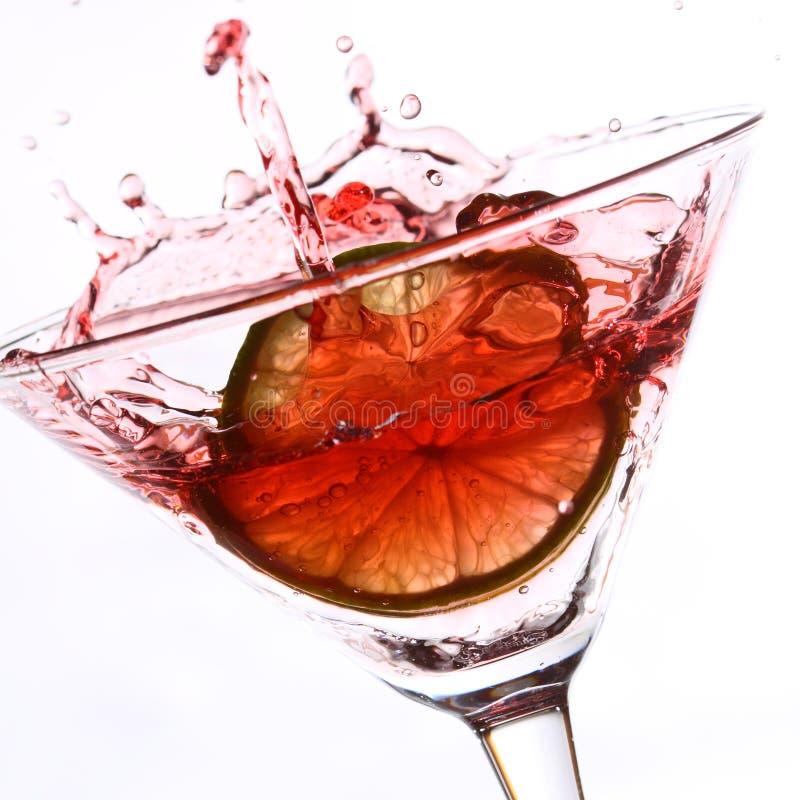 röd white för coctaillimefrukt royaltyfria bilder
