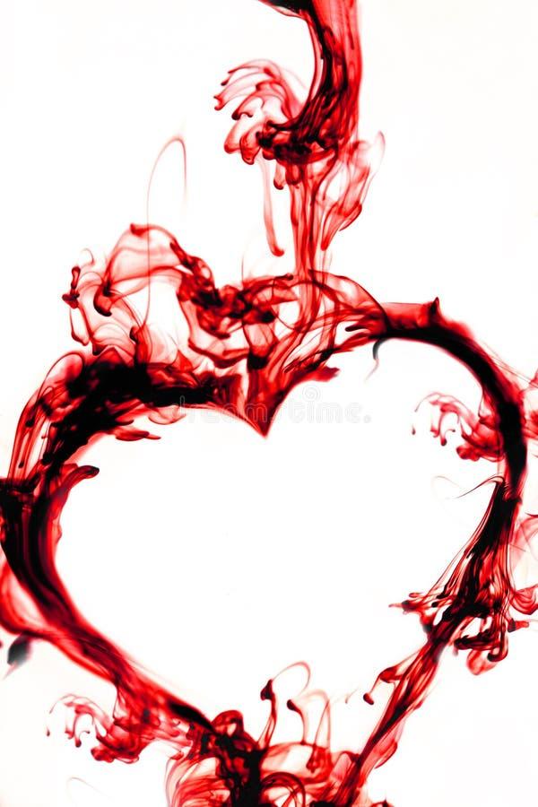 röd white för hjärta arkivfoton