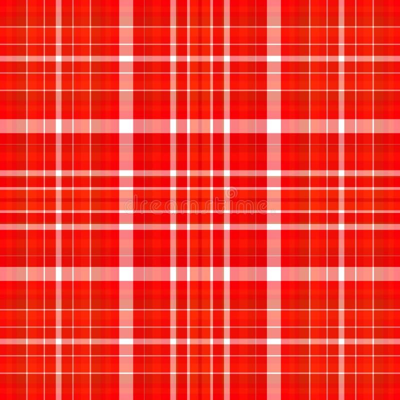 röd white för pläd vektor illustrationer