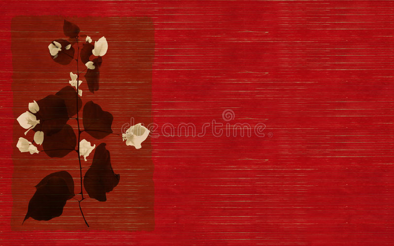 röd white för svart blommatryck stock illustrationer