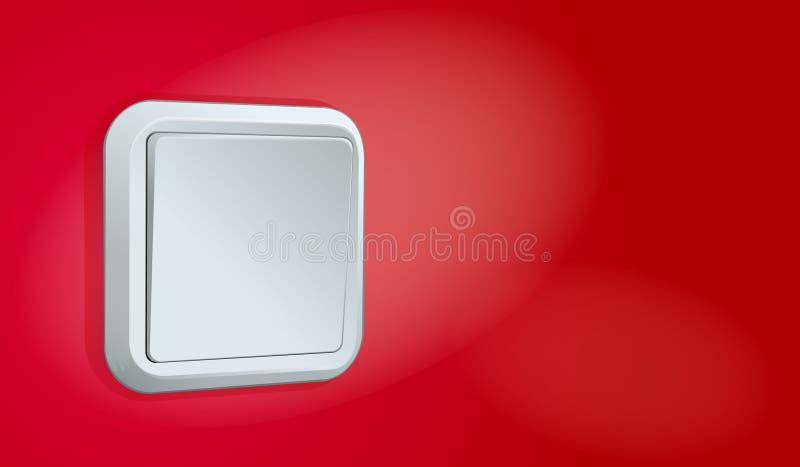 röd white för vägg för lokalströmbrytarevektor royaltyfri illustrationer