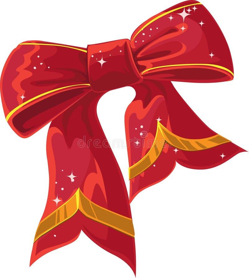 röd xmas för bowgarnering stock illustrationer
