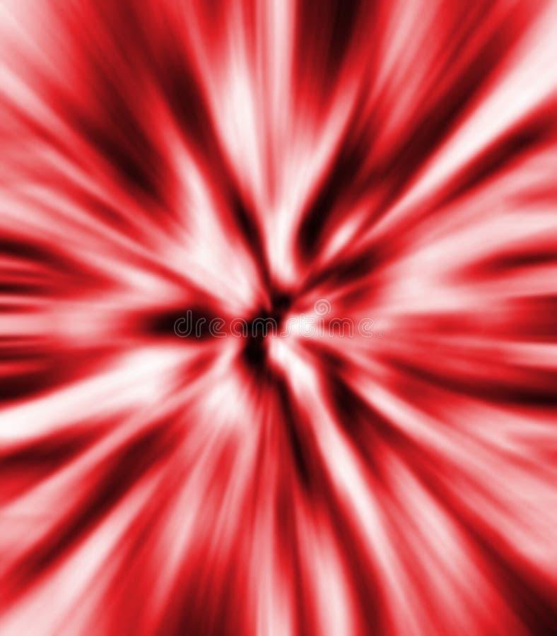 röd zoom för blur arkivbild