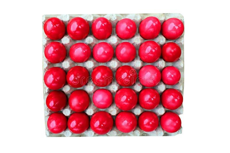 Röda ägg för påsk arkivbilder