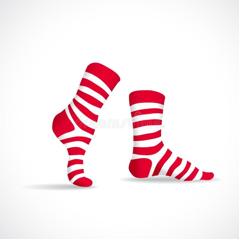 Röda avrivna sockor royaltyfri illustrationer