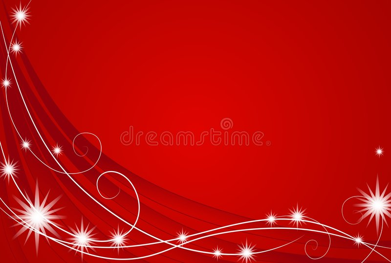 röda bakgrundsjullampor stock illustrationer