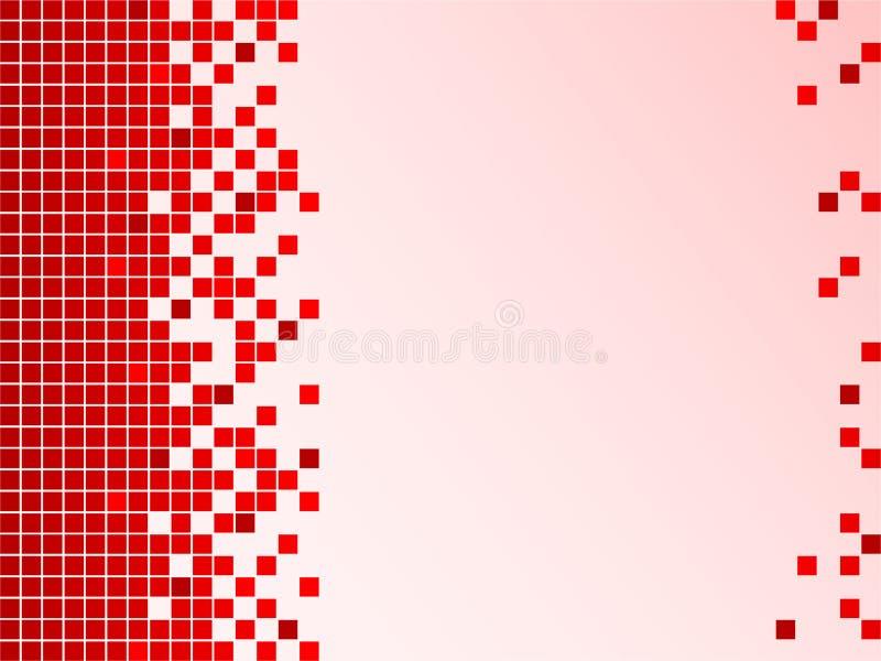 röda bakgrundsPIXEL royaltyfri illustrationer