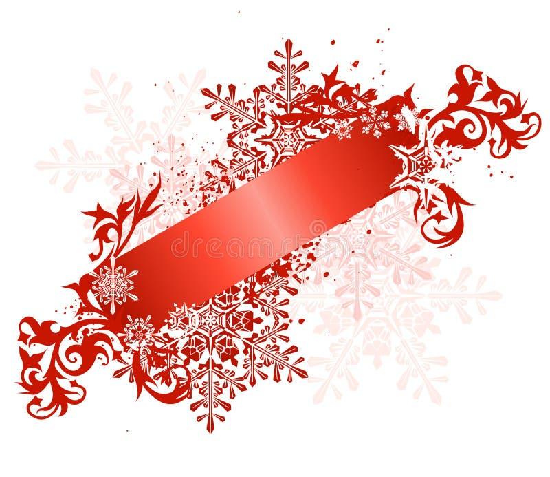 Download Röda bandsnowflakes vektor illustrationer. Illustration av grunge - 3537972