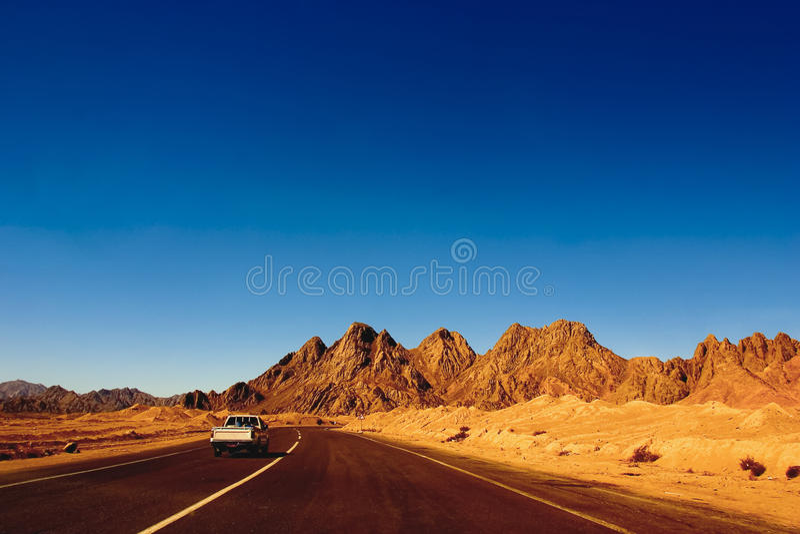 Röda berg av den Ras Mohammed nationalparken arkivbild