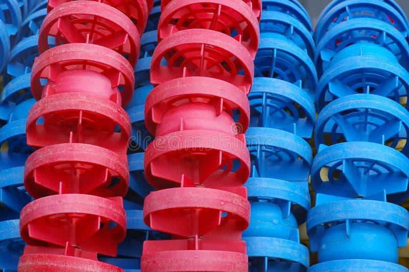 röda blåa floaters royaltyfri bild