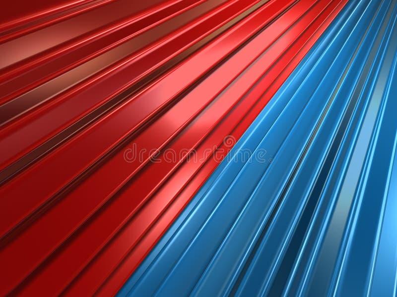 röda blåa kugghjul royaltyfri illustrationer