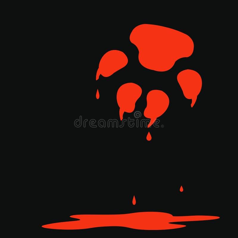röda blodiga jordluckrare vektor illustrationer
