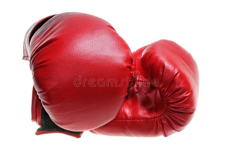 röda boxninghandskar arkivbilder