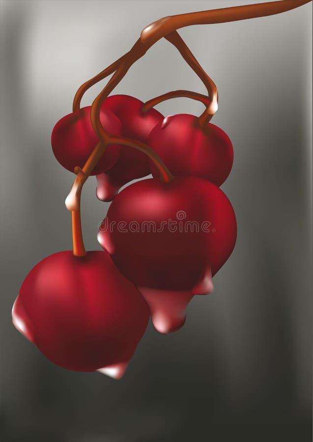 röda Cherry royaltyfri illustrationer