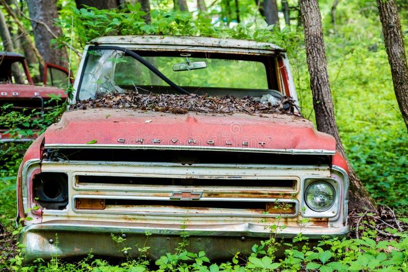 Röda Chevrolet fotografering för bildbyråer