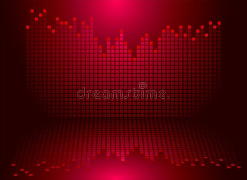 röda diagram stock illustrationer