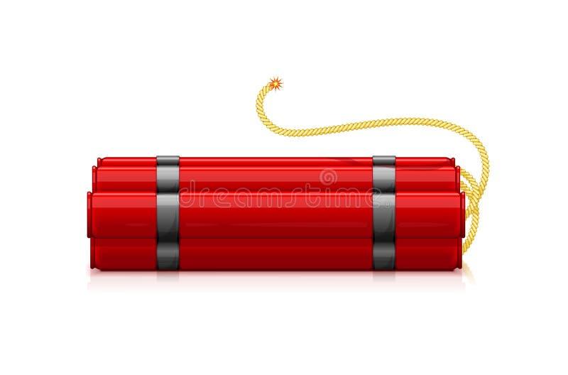 Röda dynamitpinnar vektor illustrationer