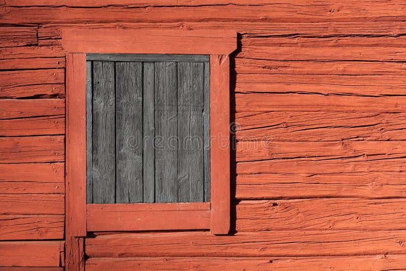 Röda Falu - svenskmålarfärg fotografering för bildbyråer