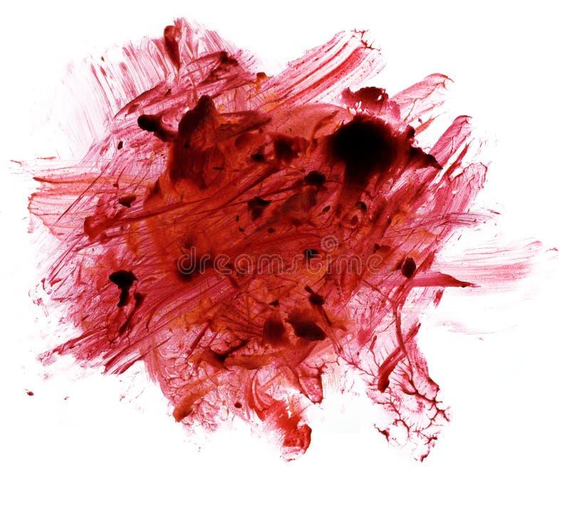 Röda fläckar och sudd arkivfoto