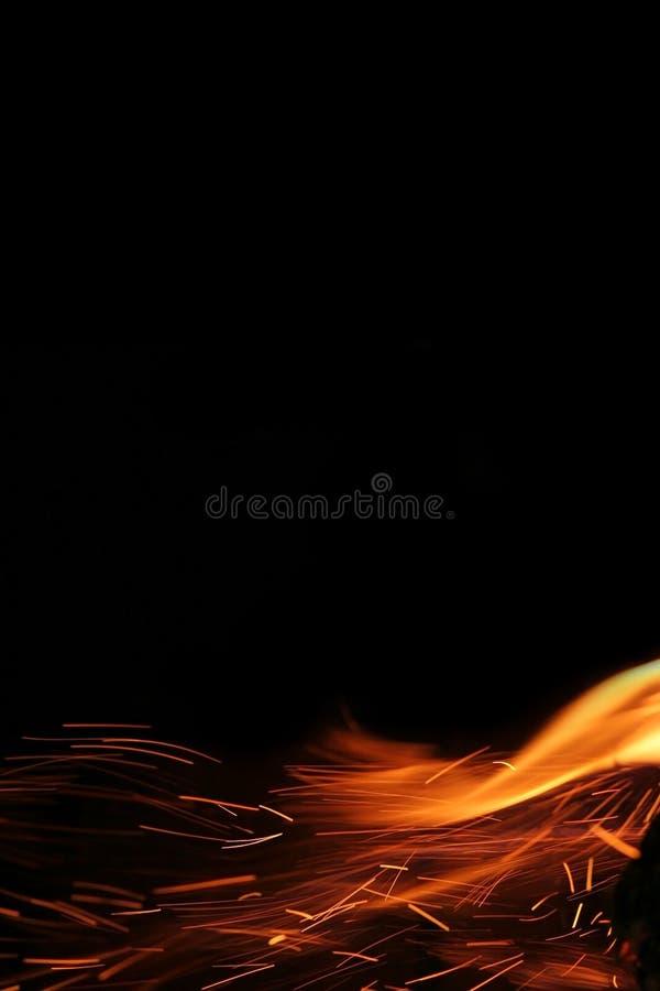 Röda flammor av brand 3 arkivbilder