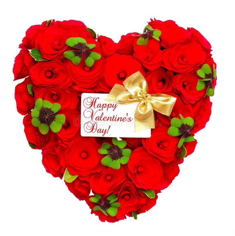 röda formade bandro för guld- hjärta royaltyfri foto
